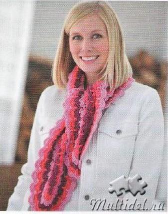 Полосатый шарфик