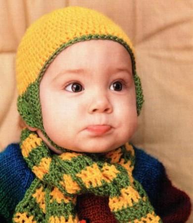 Шарфик и шапочка для малыша