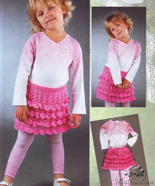 Вязанье детям юбка