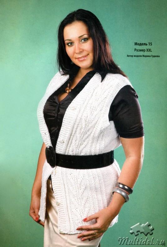 Вязание спицами для женщин жилеты для полных женщин 49