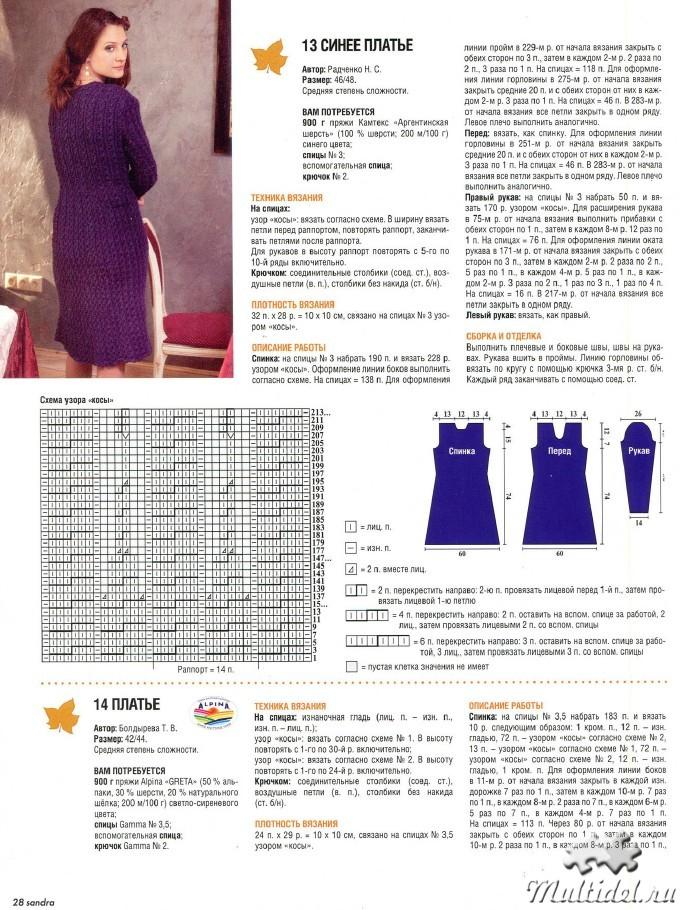 Вязаные платья спицами для полных женщин модели и фото и описание 2016