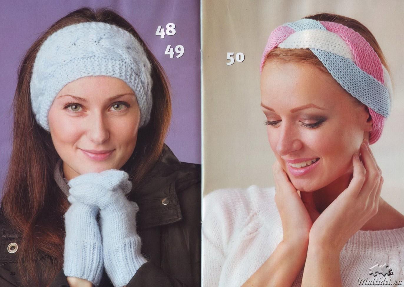 Вязаные шапки для женщин 50 - 55 лет: спицами