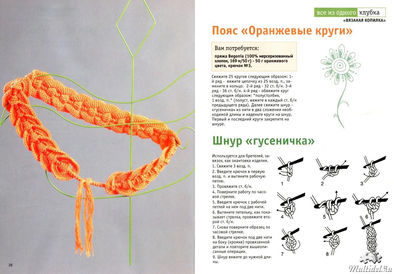 Пояса вязанные крючком со схемами