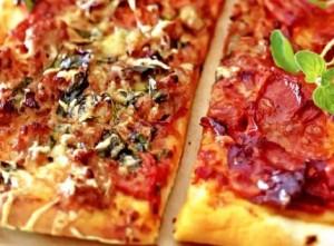 Пицца счастья  Основной рецепт приготовления теста и соуса для пиццы
