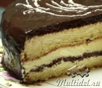 Торт Птичье молоко с манкой. Видео -рецепт