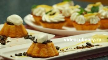Пирожные из тыквы. Видео - рецепт