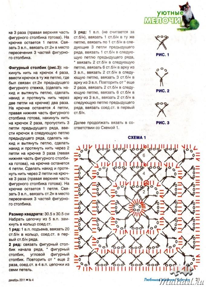 Я люблю вязание схемы 9
